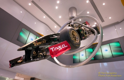 Lotus Formula One Car -Flying high.