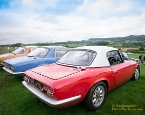 Shelsley Walsh car park , full of classics