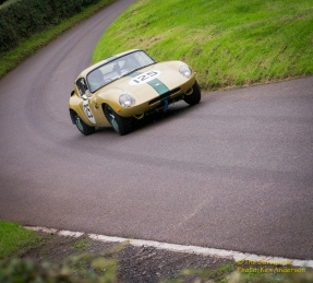 Ian Walker Racing Lotus Elan 26R - Flat out on a damp track