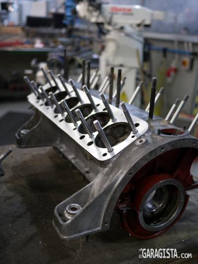 Ferrari V12 engine block: In for repairs