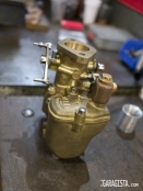 Weber carburator manufacture from bronze aluminum alloy