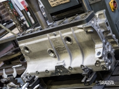 Jaguar engine block machined to size