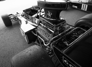 The Cosworth DFV powered Lotus 72 set the standard for Formula One of the day.