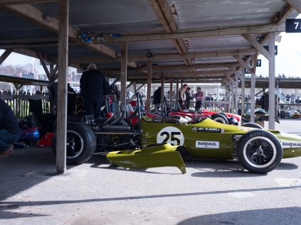 Lotus 59 in the paddock at Goodwood Members Meeting 73