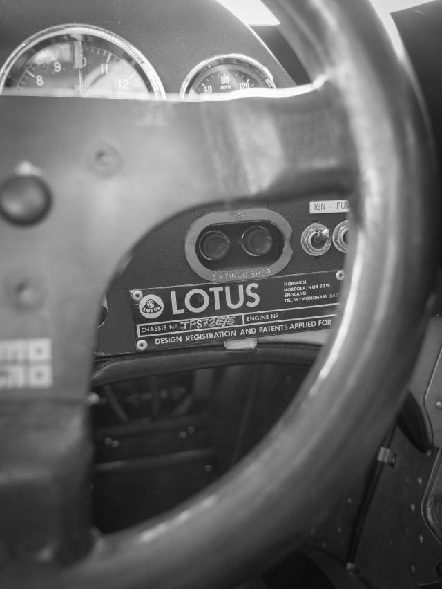 Lotus chassis plate : JPS 72E S5